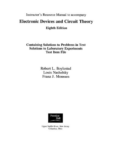 Electronic Devices And Circuit Theory Boylestad 7th Edition Pdf