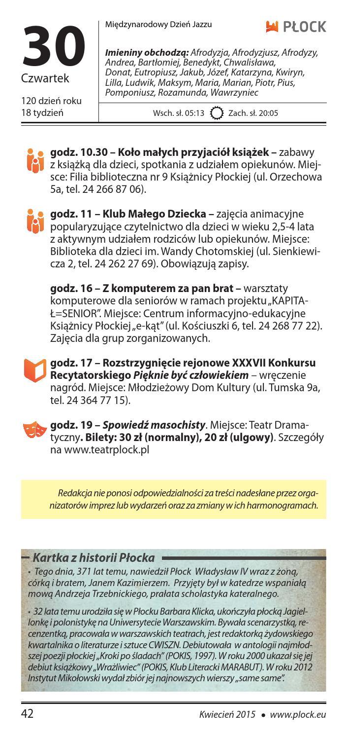 Miastożyje Nr 42015 By Płocki Ośrodek Kultury I Sztuki Issuu