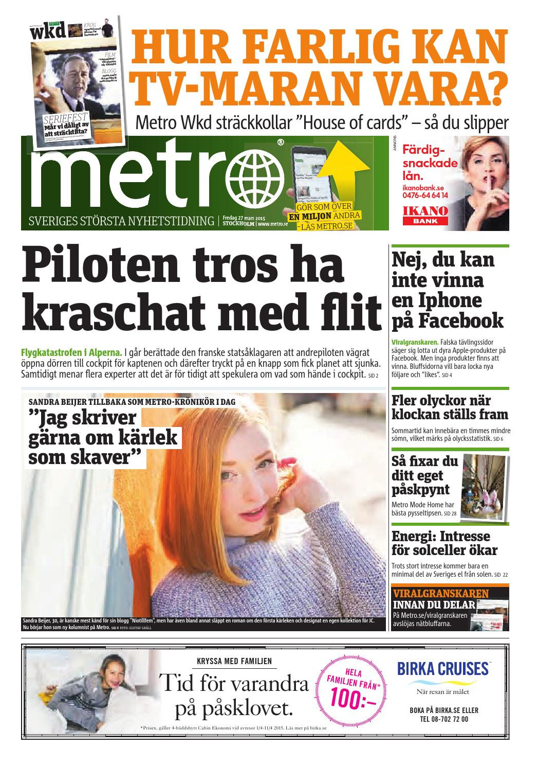 promo code 63b45 1132f 20150327 se stockholm by Metro Sweden - issuu