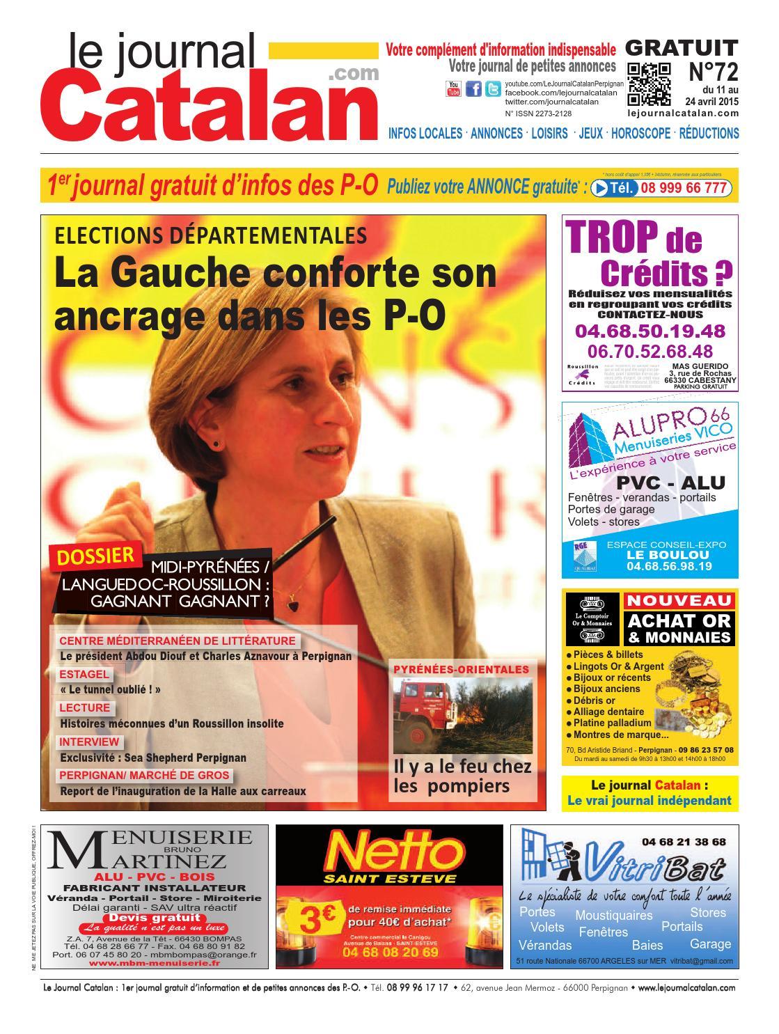 le journal catalan n 72 premier journal gratuit d 39 informations et de petites annonces des p o by. Black Bedroom Furniture Sets. Home Design Ideas