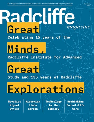 47d41d44da3 Summer 2014 Radcliffe Magazine by The Radcliffe Institute for ...