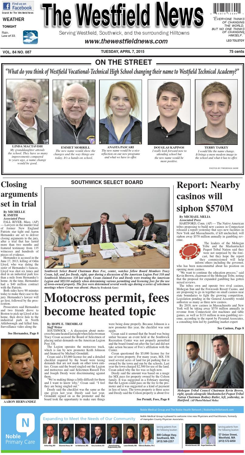 Tuesday, April 7, 2015 by The Westfield News - issuu