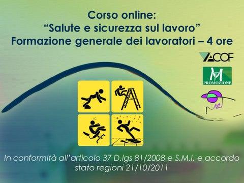 Corso Online Salute E Sicurezza Sul Lavoro Verso Un Modello Di Benessere Organizzativo By Studi Crotti Issuu