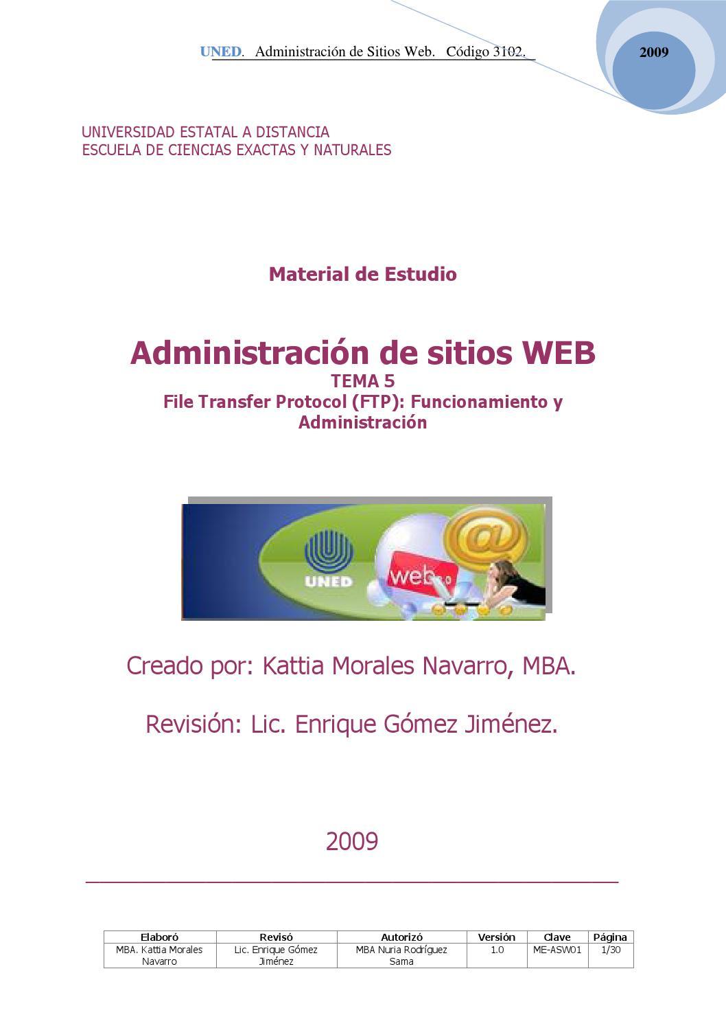Tema 5 administracion de sitios web 3102 by Jose Gomez - issuu
