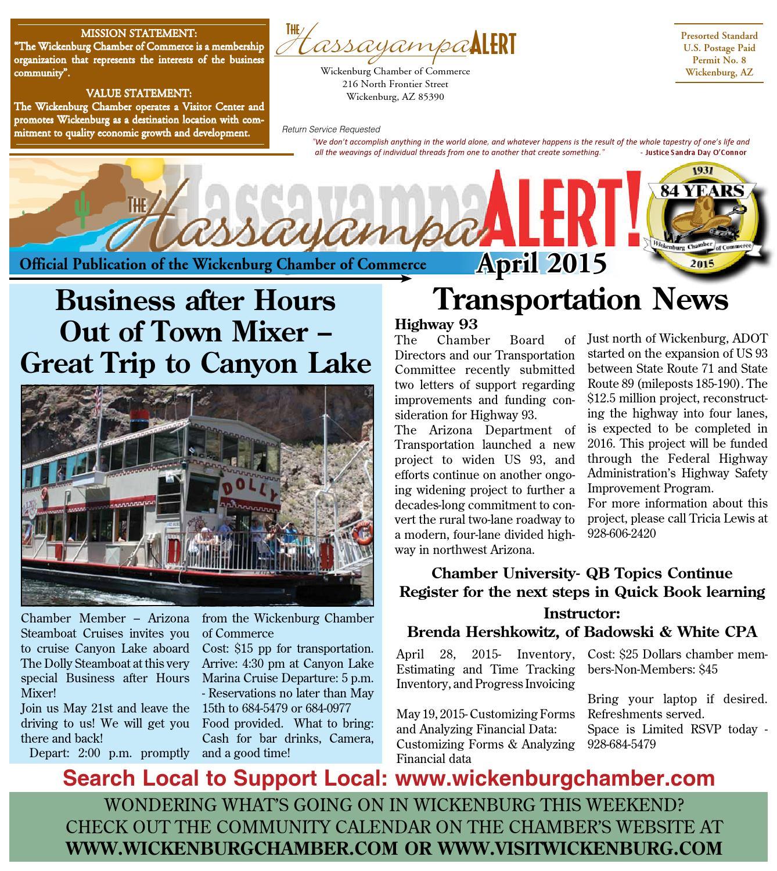 April Hassayampa Alert By Wickenburg Chamber Of Commerce