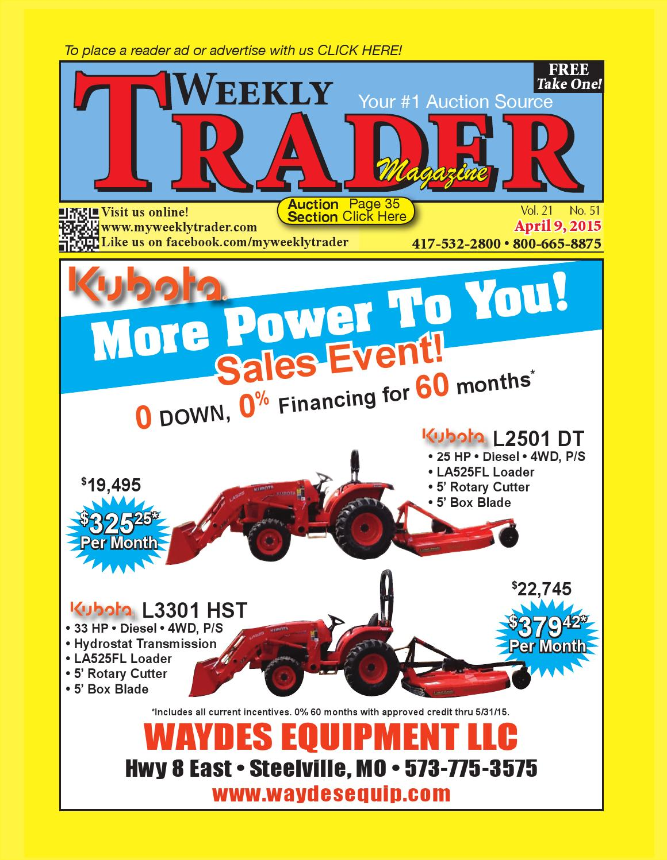 Weekly Trader April 9, 2015
