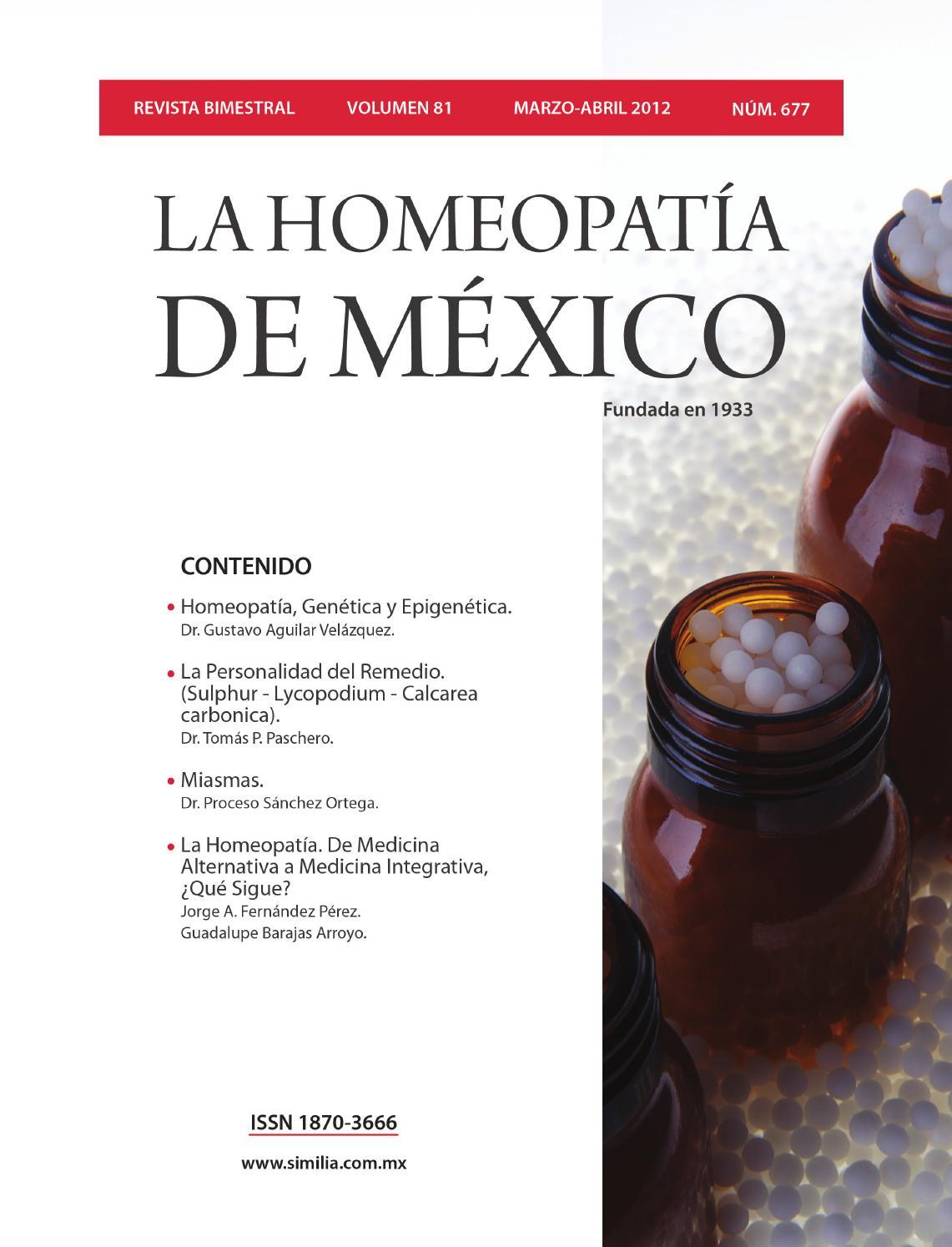 La Homeopatía De México No 677 Marzo Abril De 2012 By La Homeopatía De México Issuu