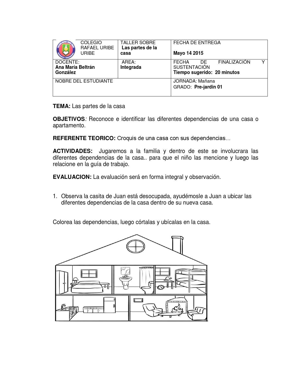 Guia 2 dependencias de la casa by anamabeltr ngon issuu for Dependencias de la escuela