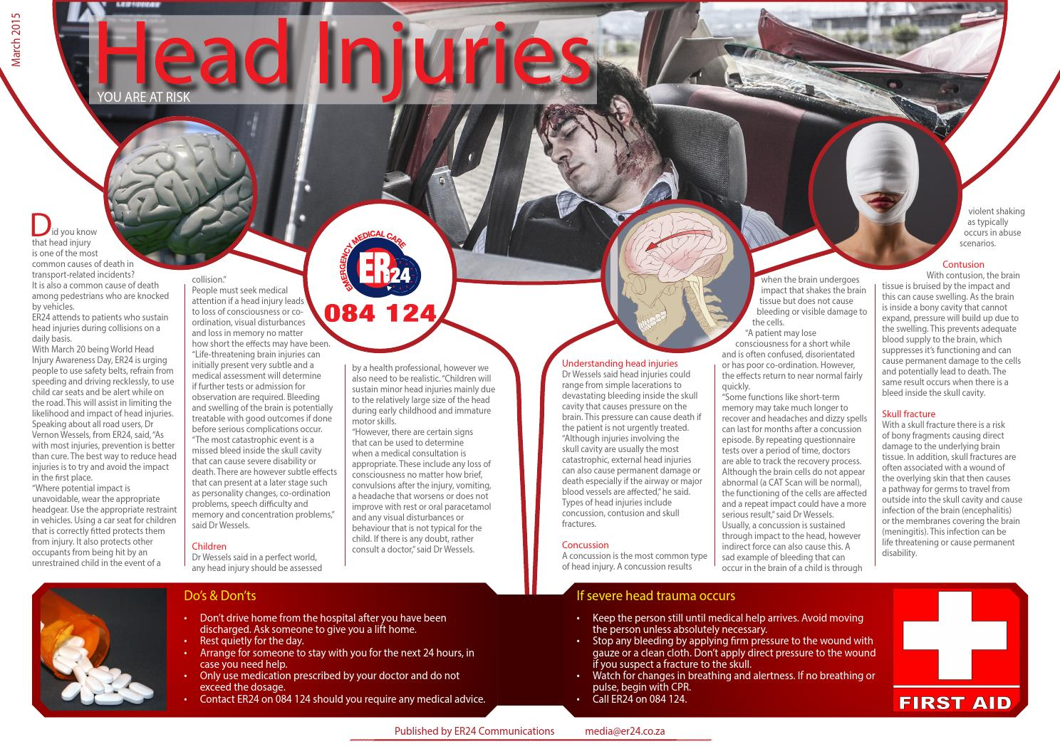 Head injuries in road accidents by ER24EMS - issuu
