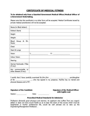 CertificateOfMedicalFitness By Manav Rachn University  Issuu