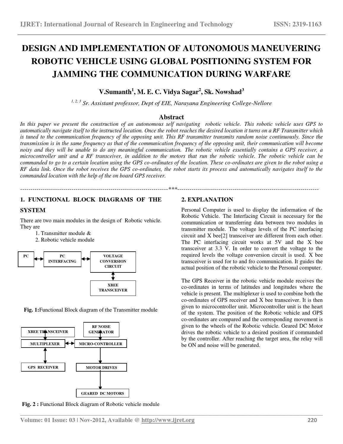 Design and implementation of autonomous maneuvering robotic
