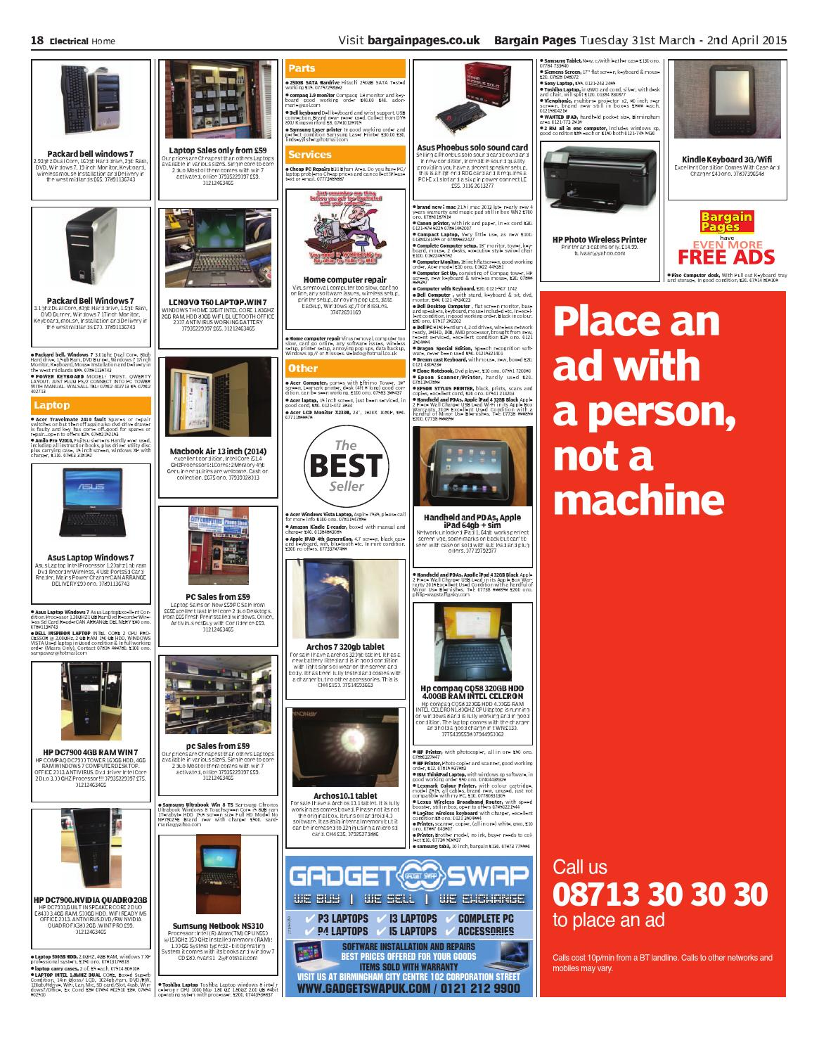 Bargain Pages West Midlands, March 31st 2015 by Loot - issuu