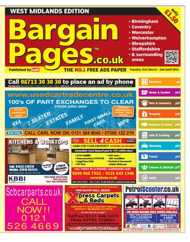 7f86339c39f66 Bargain Pages West Midlands