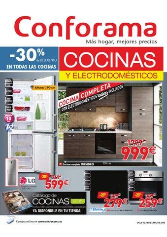 Conforama Cocinas Catalogo | Conforama Catalogo 9 29abril2015 By Catalogopromociones Com Issuu