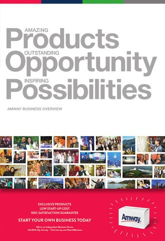 Amway Business Opportunity Brochure by Change Your Economy - issuu