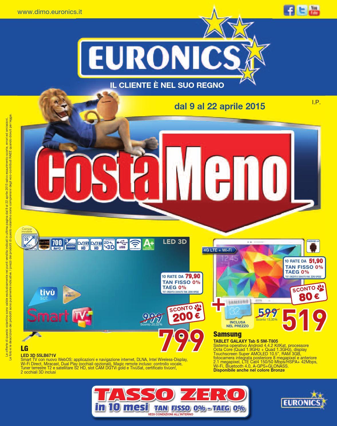 Volantino COSTAMENO Euronics - dal 9 al 22 aprile by ...