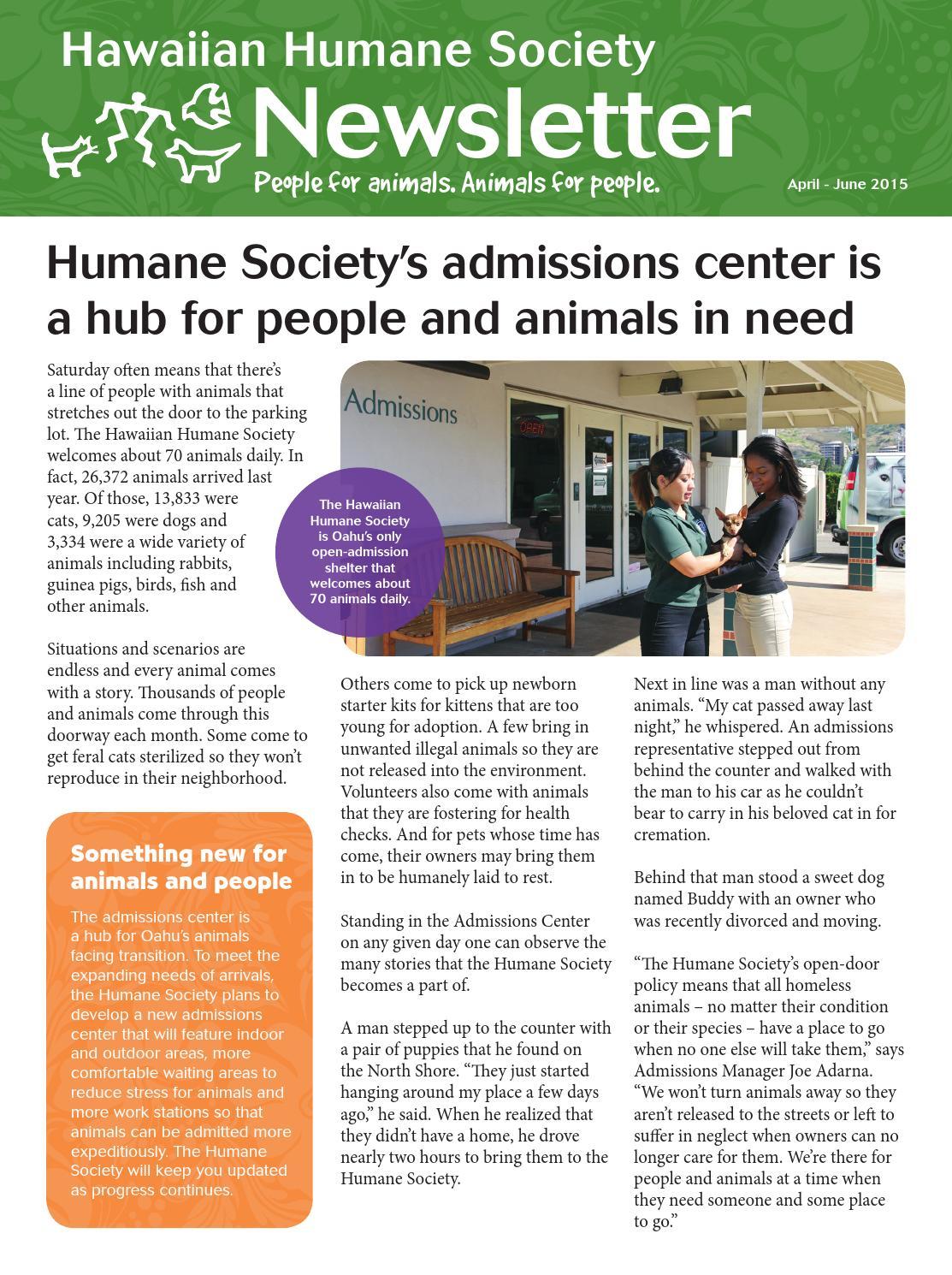 Hawaiian Humane Society April Newsletter by Hawaiian Humane - issuu