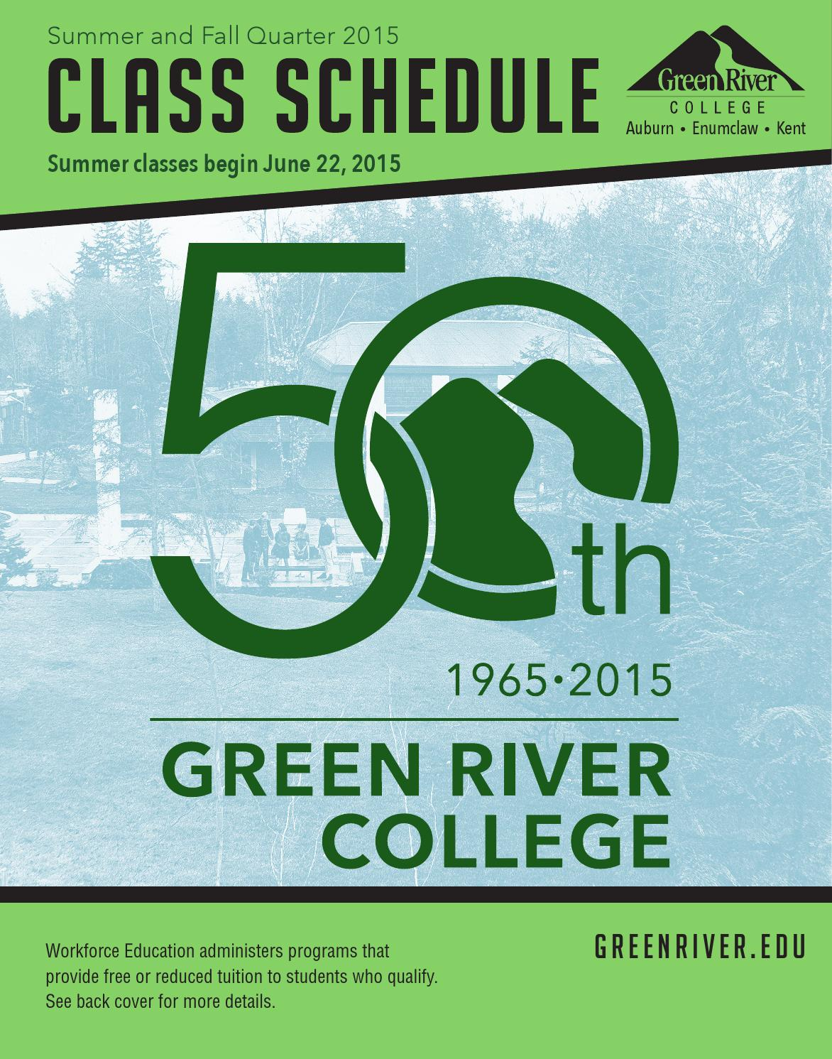 Green River College\'s Sum fall 15 schedule by Green River College ...