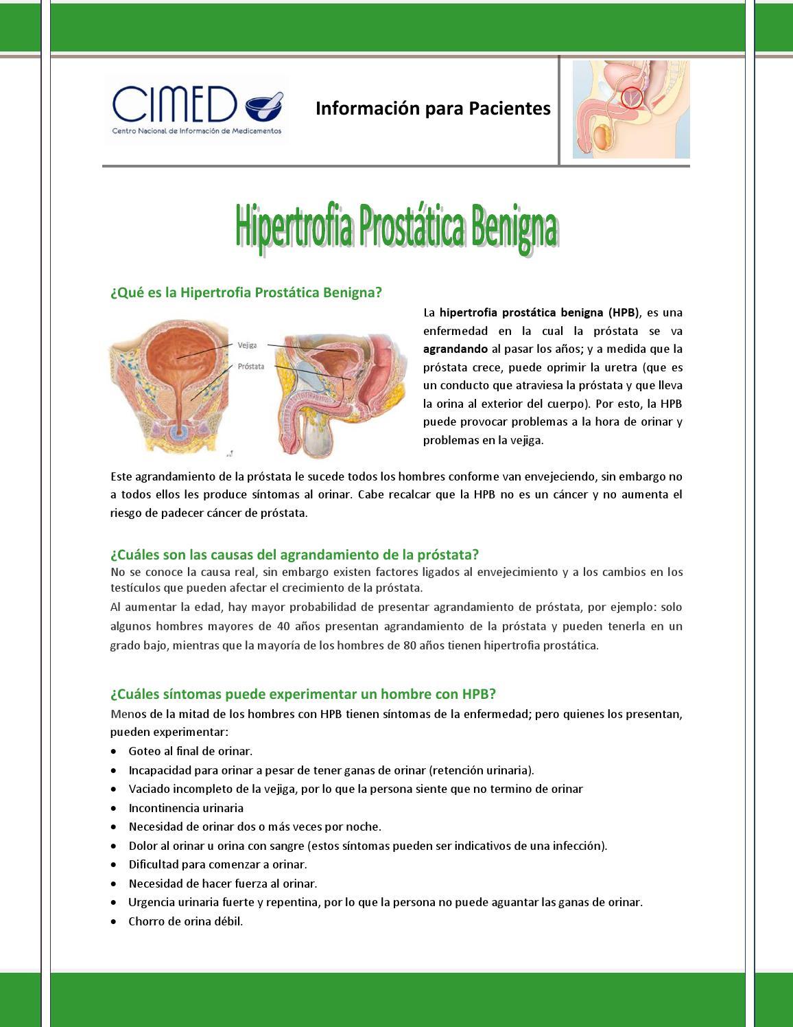 ¿Qué es la hipertrofia prostática?