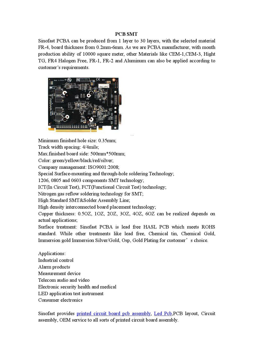 Pcb Smt By Shenzhen Sinofast Electronics Coltd Issuu Fr4 Eletronic Printed Circuit Board Design Buy