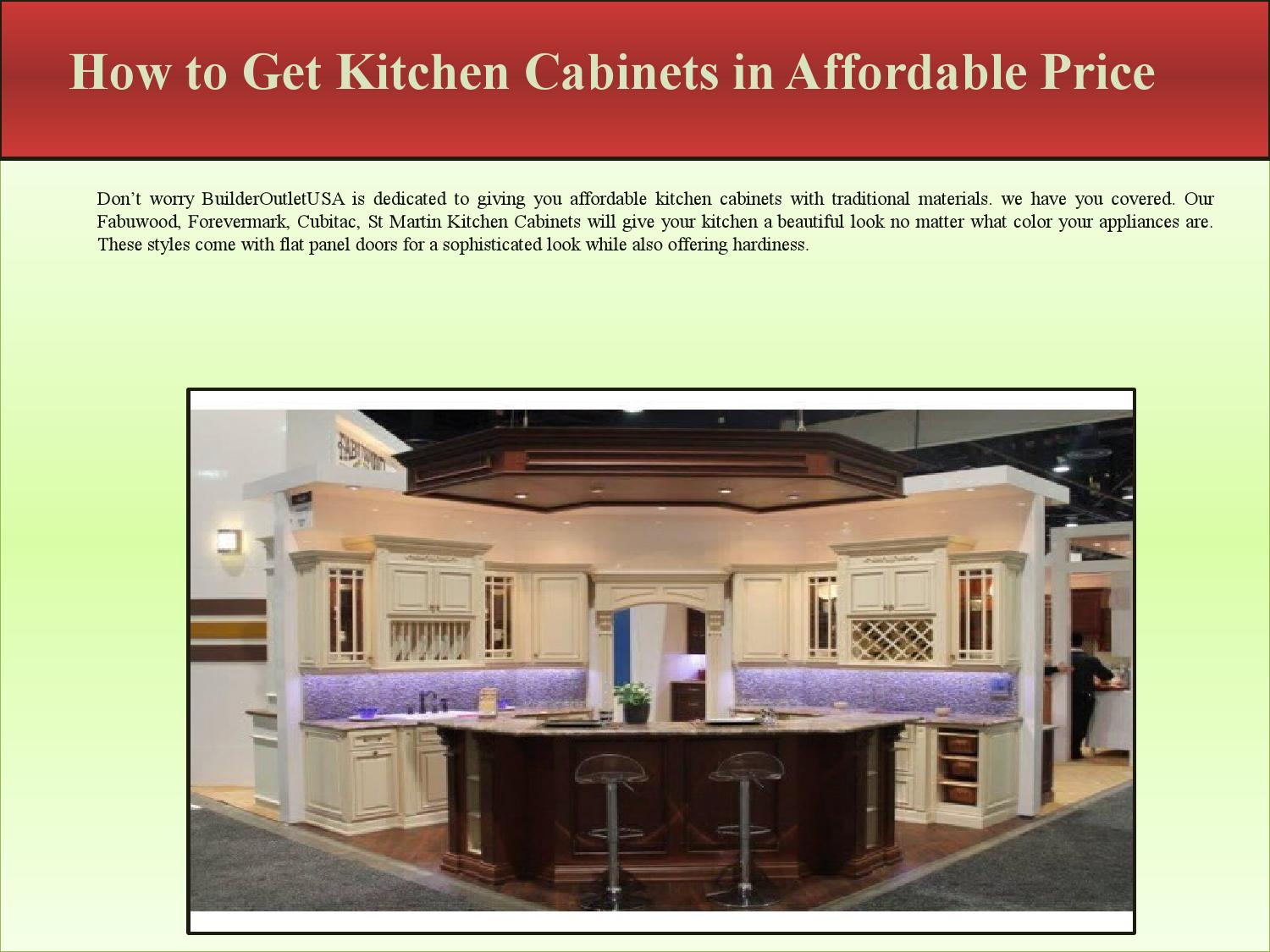 How to get kitchen cabinets in affordable price by for Affordable kitchen cabinets nj
