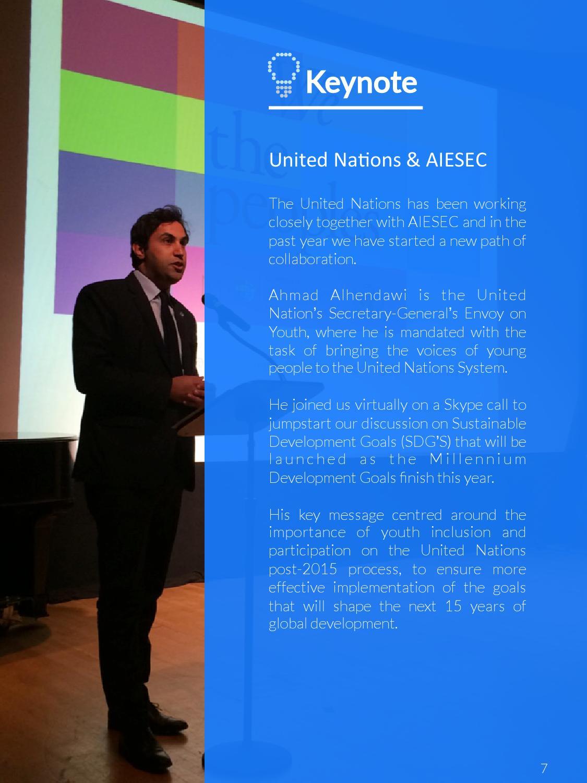 Ahmad Alhendawi global youth speak forum report | february 2015 - cambodia