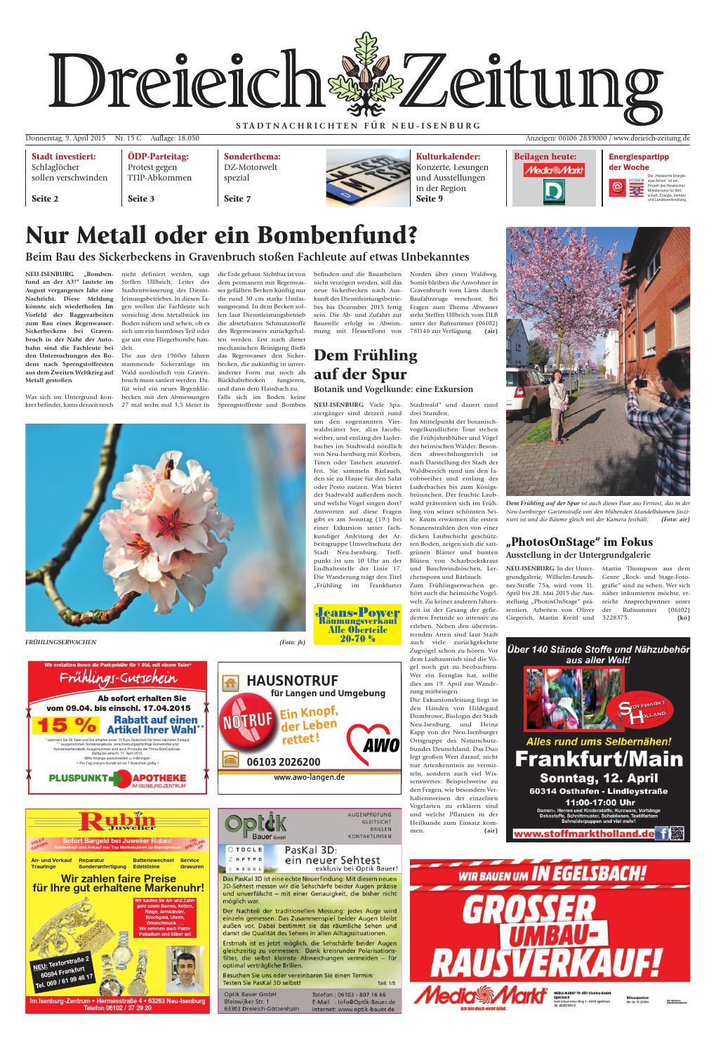 Dz online 015 15 c by Dreieich-Zeitung/Offenbach-Journal - issuu