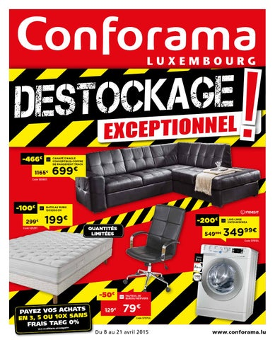 Doc20 Déstockage Exceptionnel By Conforama Luxembourg Issuu