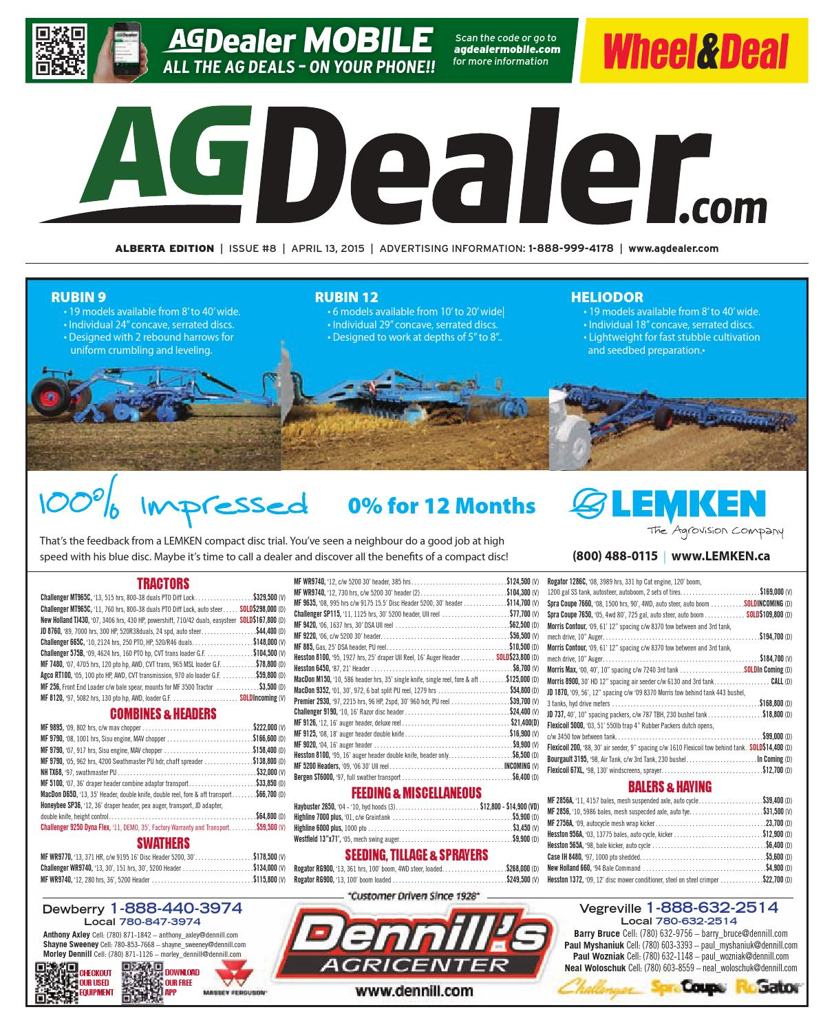 Wheel Amp Deal Alberta April 13 2015 By Farm Business 1990 Toyota Pickup Wiring Diagram On 1963 Farmall 460 Communications Issuu
