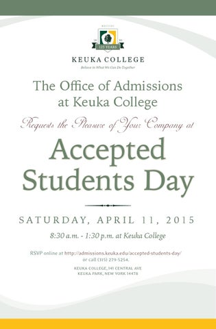 Accepted students day invitation by pete bekisz issuu page 1 stopboris Choice Image