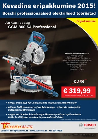 c4bb8218ce5 Bosch Eripakkumised Taivoster leaflet by Taivoster - issuu