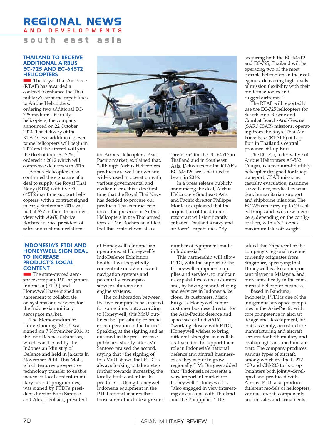 AMR Feb 2015 by Armada International & Asian Military Review