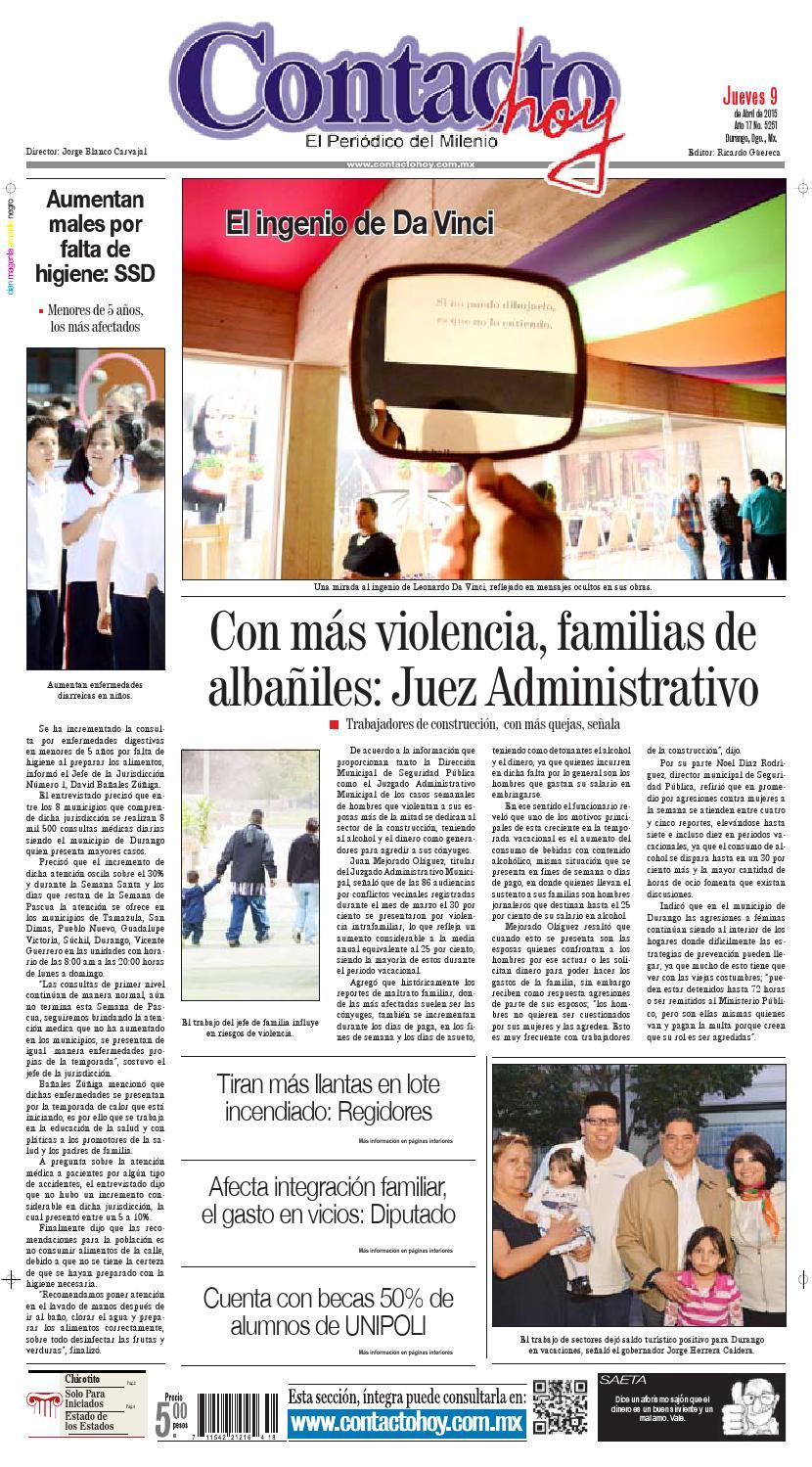 Contacto hoy del 9 de abril del 2015 by Contacto hoy - issuu
