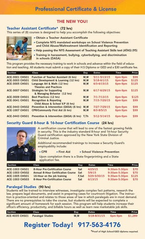 Spring/Summer 2015 CUNY in the Heights Catalog by Hostos Community ...