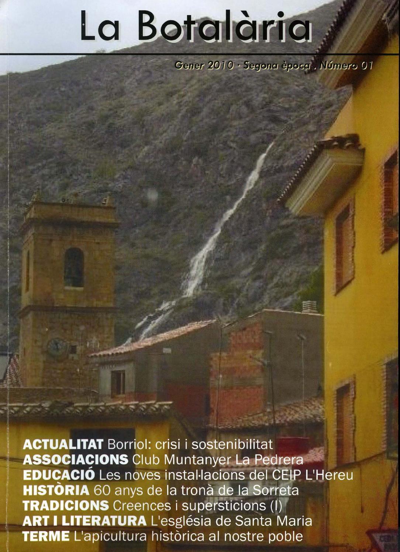 La Botal Ria N Mero 1 2010 By Associaci Cultural La Botal Ria  # Muebles Pitarch Borriol