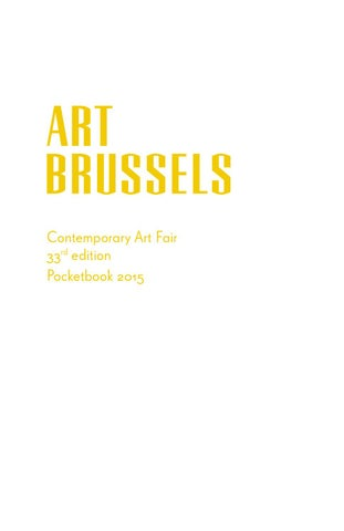 69a394ca5b Art Brussels 2015 Pocketbook by L-ink - issuu