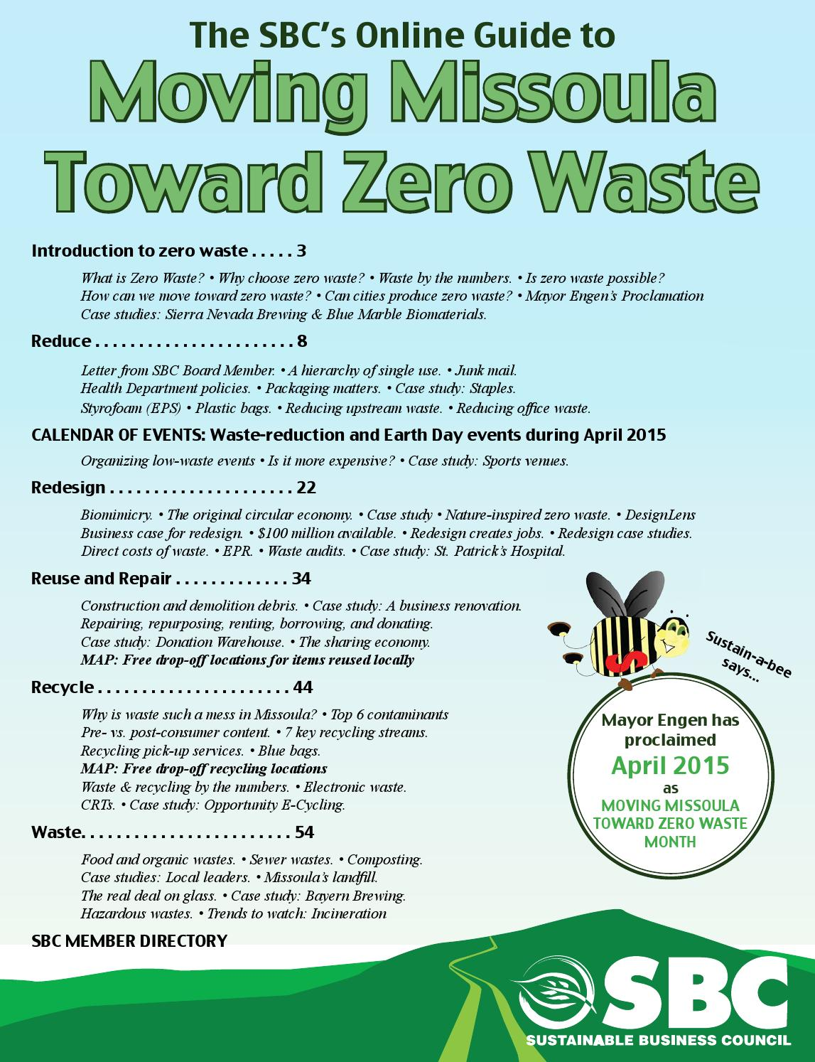 Moving Missoula Toward Zero Waste Guide by Sustainable Business ...