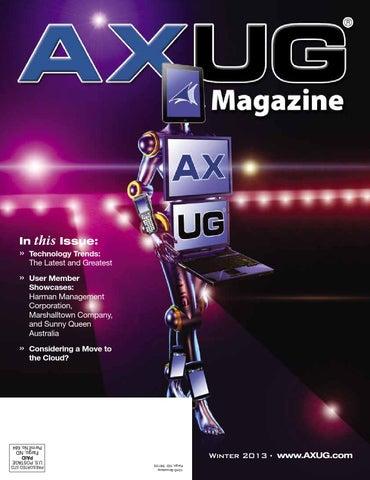 2013 Winter - AXUG Magazine by Dynamic Communities, Inc - issuu