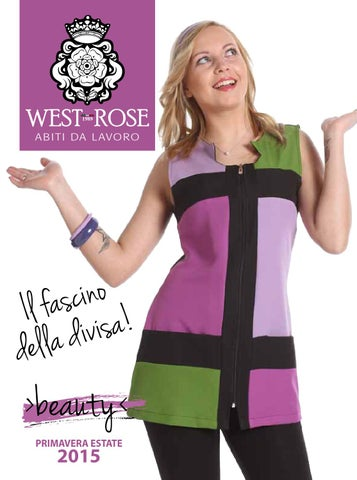 West Rose BEAUTY  divise parrucchieri e divise estetiste by West ... f399d51c2da