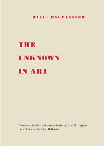 Willi Baumeister The Unknown In Art By Willi Baumeister