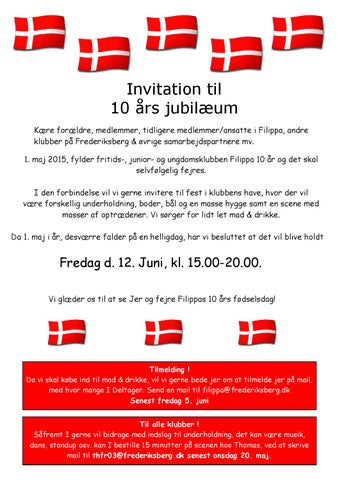 10 års jubilæum invitation 12 juni by filippaklubblad - Issuu