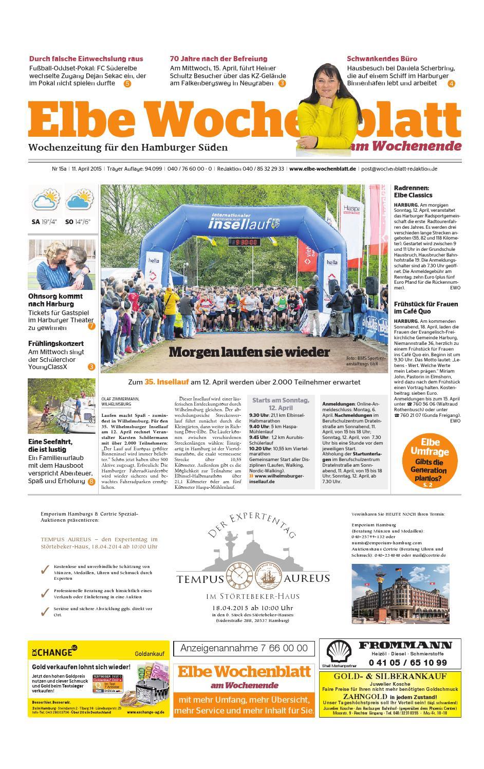 Wochenende KW15 2015 by mbH Elbe Wochenblatt Verlagsgesellschaft mbH by 3b6e67
