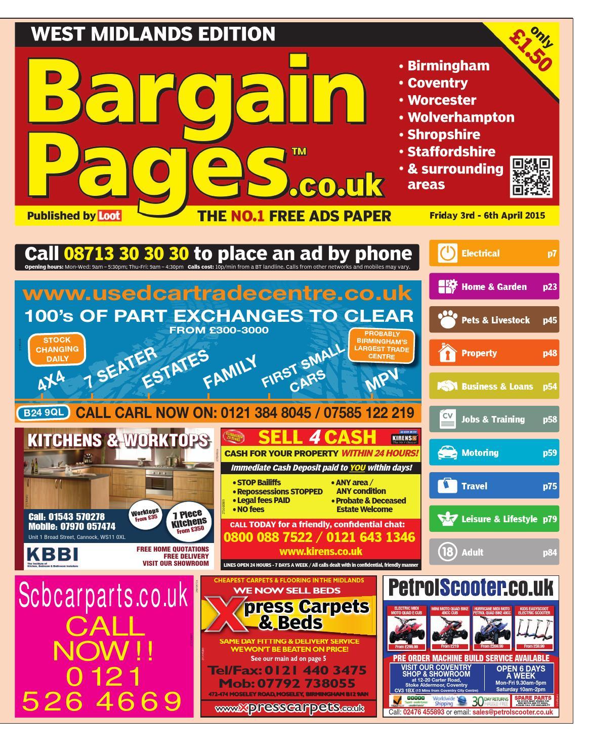 Bargain Pages Birmingham 3rd April 2015 By Loot Issuu Britania Short Sleeve Print Shirt 7299 Cokelat Xl
