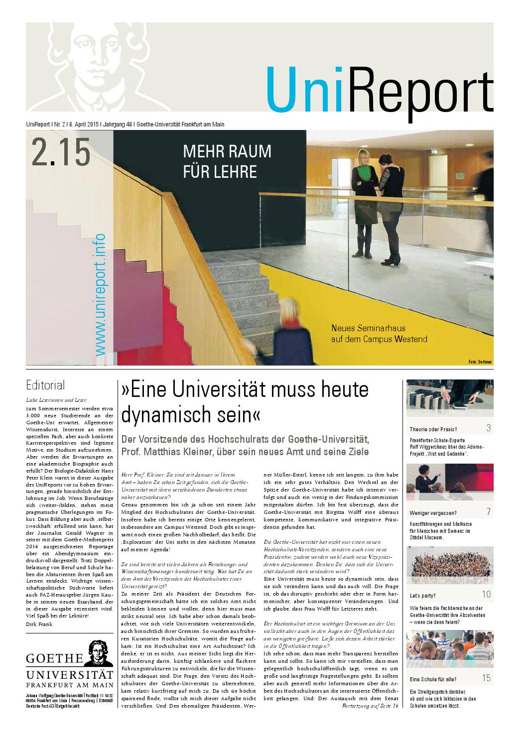April 2015 by Goethe-Universität Frankfurt - issuu