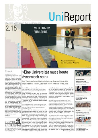 UniReport 2-2015 vom 8. April 2015 by Goethe-Universität Frankfurt ...