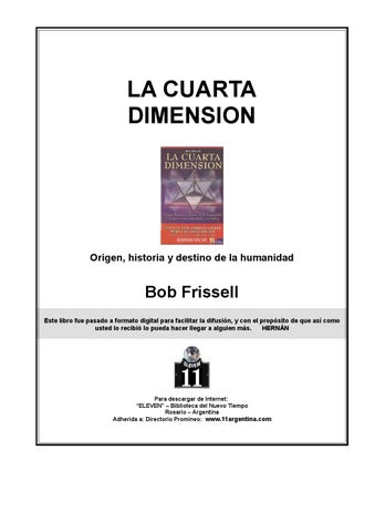 La Cuarta Dimension (by Bob Frissell) by Juan Carlos Corzo ...