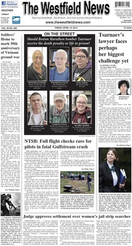 Friday April 10 2015 By The Westfield News Issuu