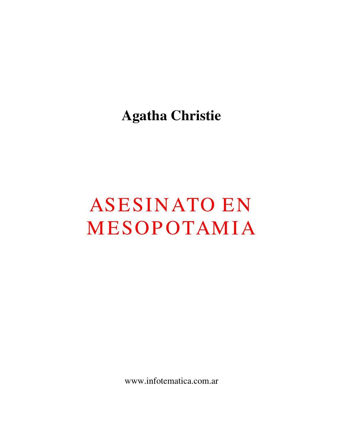 Asesinato en mesopotamia by brisa fernanda - issuu