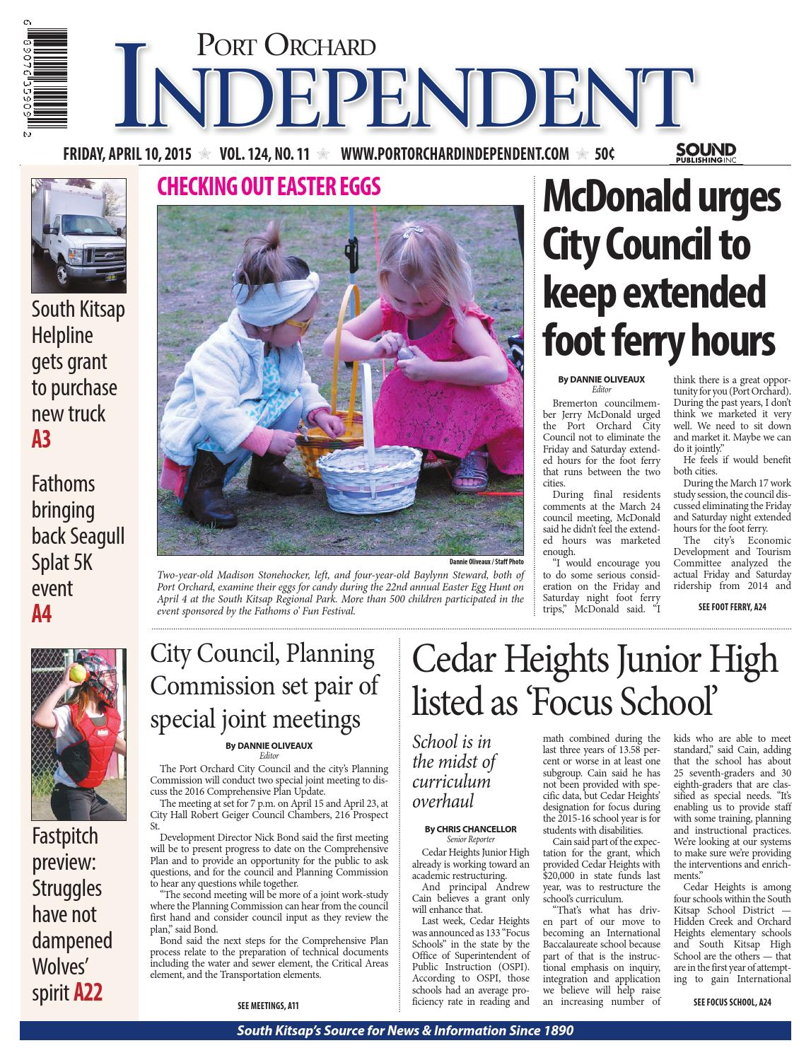 Port Orchard Independent April 10 2015 By Sound