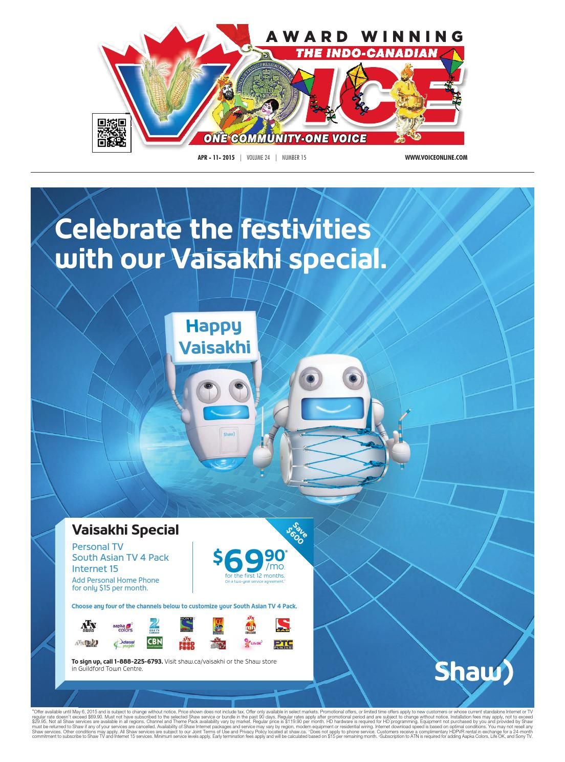 Indo canadian voice main april 11, 2015 by Indo-Canadian
